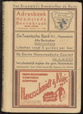 Adresboeken Heemstede, Bennebroek 1931