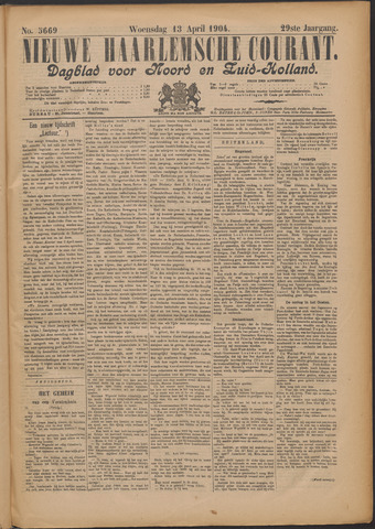 Nieuwe Haarlemsche Courant 1904-04-13