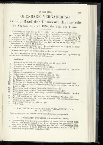 Raadsnotulen Heemstede 1956-04-27