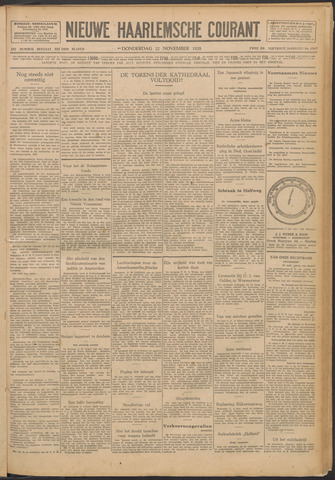 Nieuwe Haarlemsche Courant 1928-11-22