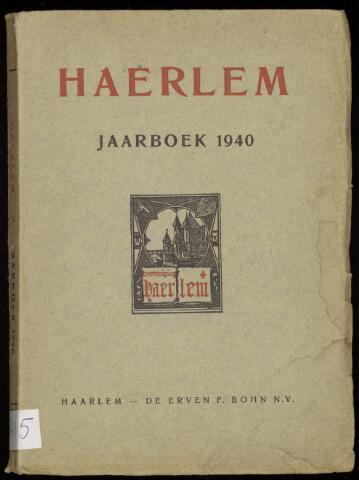 Jaarverslagen en Jaarboeken Vereniging Haerlem 1940