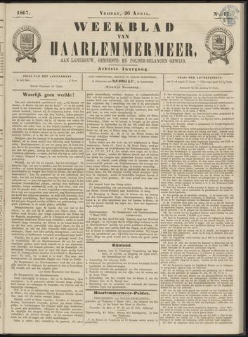 Weekblad van Haarlemmermeer 1867-04-26