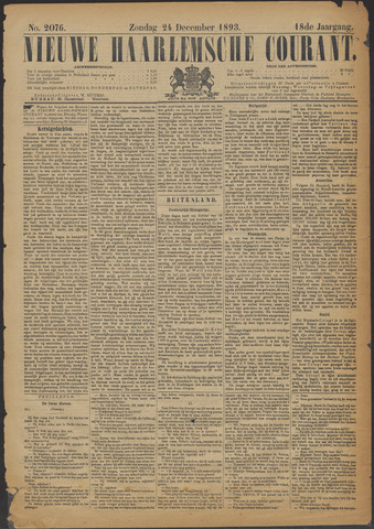 Nieuwe Haarlemsche Courant 1893-12-24