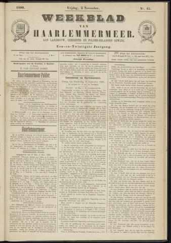 Weekblad van Haarlemmermeer 1880-11-05