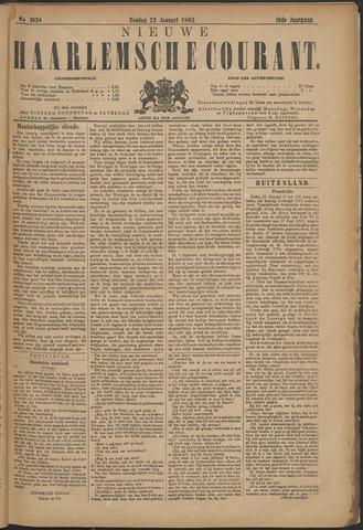 Nieuwe Haarlemsche Courant 1893-01-22