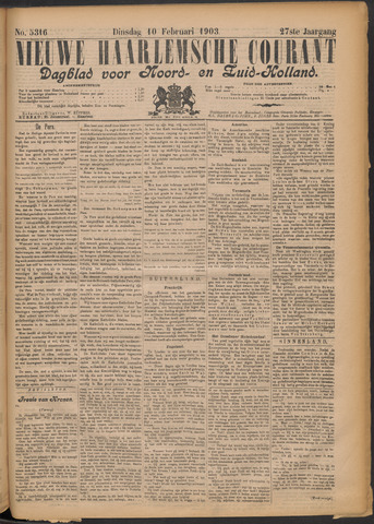 Nieuwe Haarlemsche Courant 1903-02-10