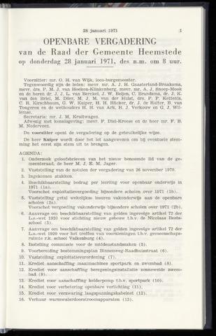 Raadsnotulen Heemstede 1971-01-28