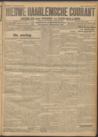 Nieuwe Haarlemsche Courant 1914-08-12