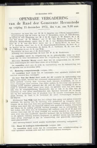 Raadsnotulen Heemstede 1972-12-15