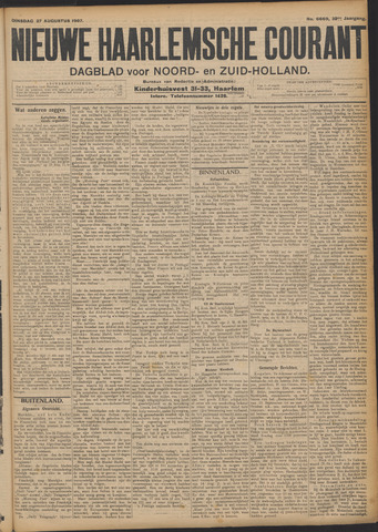 Nieuwe Haarlemsche Courant 1907-08-27