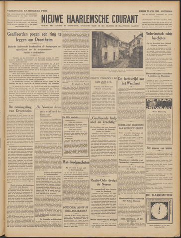Nieuwe Haarlemsche Courant 1940-04-23