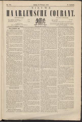 Nieuwe Haarlemsche Courant 1884-02-24