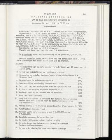 Raadsnotulen Heemstede 1976-06-24