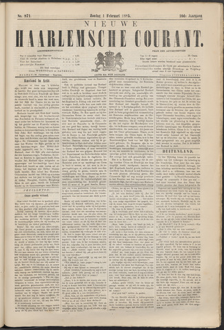 Nieuwe Haarlemsche Courant 1885-02-01