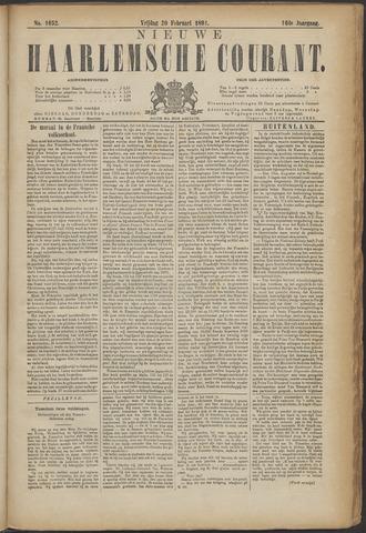 Nieuwe Haarlemsche Courant 1891-02-20