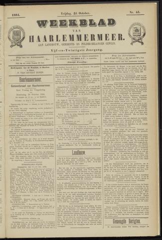 Weekblad van Haarlemmermeer 1884-10-24