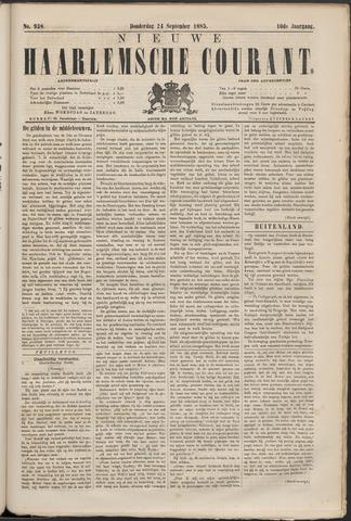 Nieuwe Haarlemsche Courant 1885-09-24