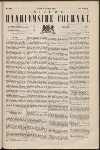 Nieuwe Haarlemsche Courant 1885-11-01
