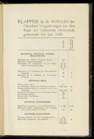 Raadsnotulen Heemstede 1940-01-01