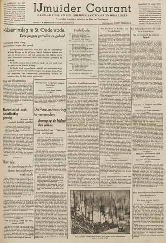 IJmuider Courant 1939-08-21