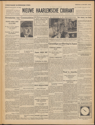 Nieuwe Haarlemsche Courant 1933-03-03