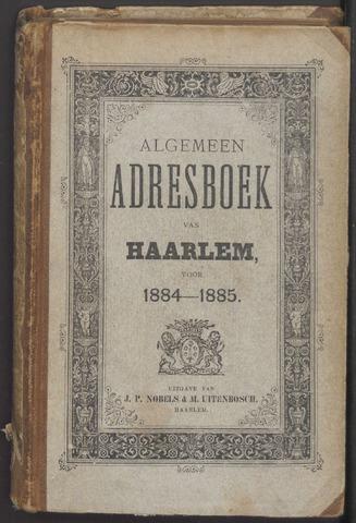 Adresboeken Haarlem 1884