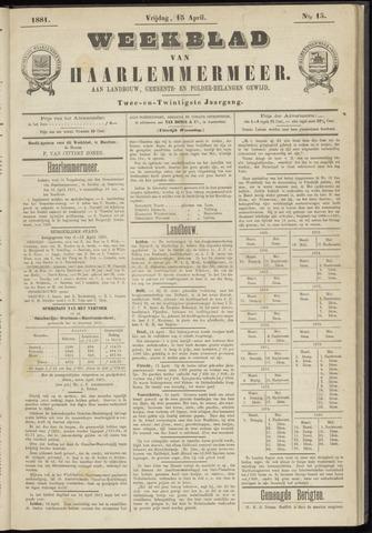 Weekblad van Haarlemmermeer 1881-04-15