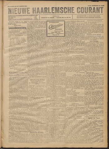 Nieuwe Haarlemsche Courant 1920-09-18