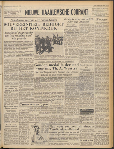 Nieuwe Haarlemsche Courant 1952-10-30