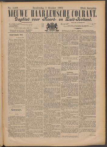 Nieuwe Haarlemsche Courant 1903-10-01