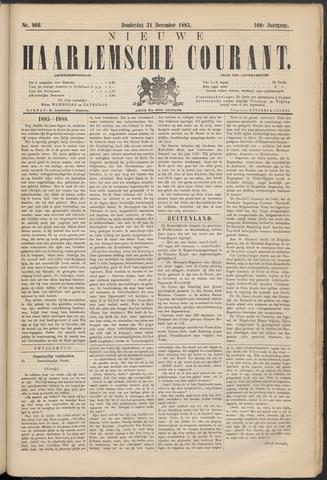 Nieuwe Haarlemsche Courant 1885-12-31