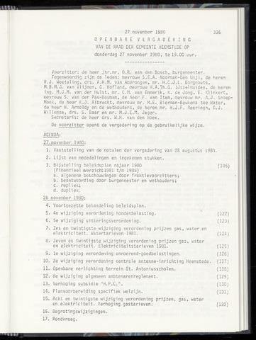 Raadsnotulen Heemstede 1980-11-27