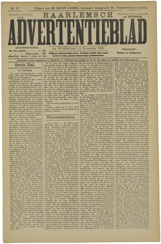 Haarlemsch Advertentieblad 1900-11-21
