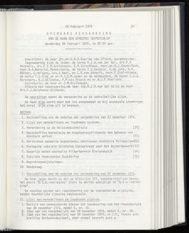 Raadsnotulen Heemstede 1976-02-26