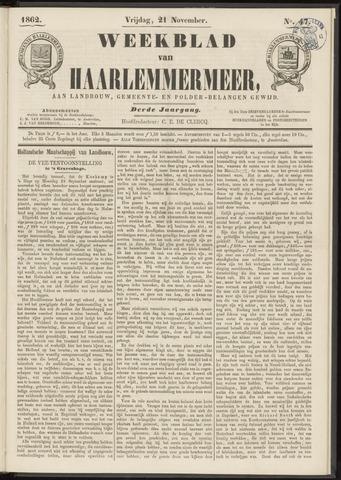 Weekblad van Haarlemmermeer 1862-11-21
