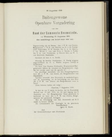Raadsnotulen Heemstede 1916-08-16