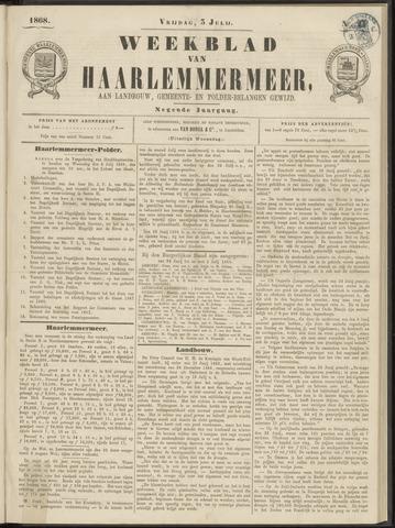 Weekblad van Haarlemmermeer 1868-07-03