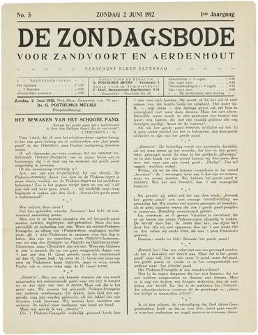 De Zondagsbode voor Zandvoort en Aerdenhout 1912-06-02
