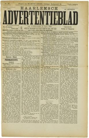 Haarlemsch Advertentieblad 1888-04-18