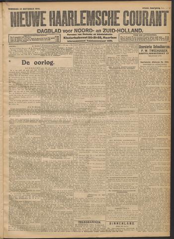 Nieuwe Haarlemsche Courant 1914-10-27