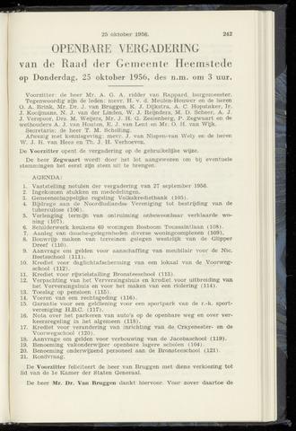 Raadsnotulen Heemstede 1956-10-25