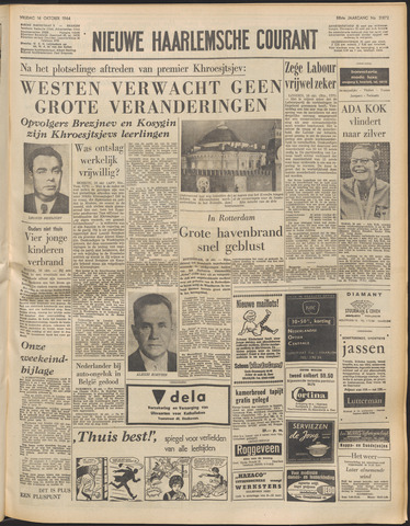 Nieuwe Haarlemsche Courant 1964-10-16