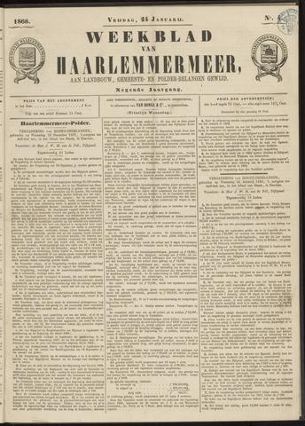 Weekblad van Haarlemmermeer 1868-01-24