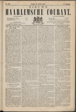 Nieuwe Haarlemsche Courant 1881-10-23
