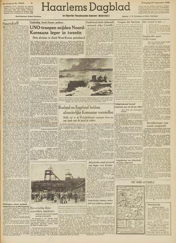 Haarlem's Dagblad 1950-09-27