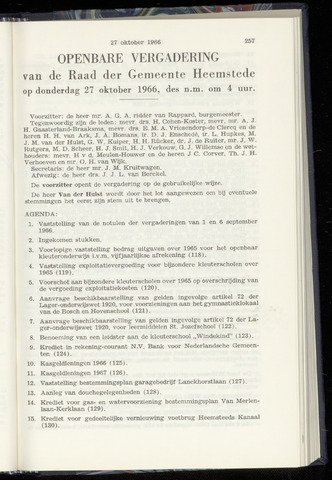 Raadsnotulen Heemstede 1966-10-27