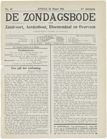 De Zondagsbode voor Zandvoort en Aerdenhout 1916-03-26