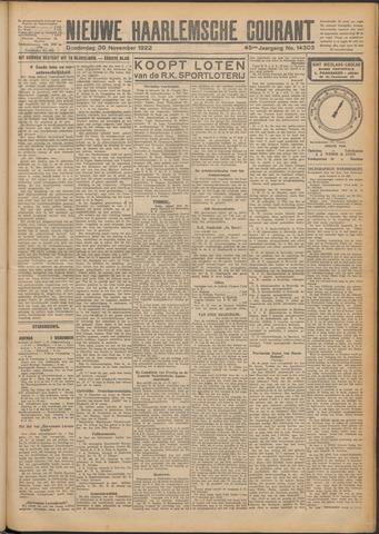 Nieuwe Haarlemsche Courant 1922-11-30