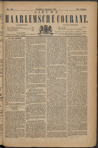 Nieuwe Haarlemsche Courant 1892-09-07