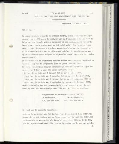 Raadsnotulen Heemstede 1983-04-28